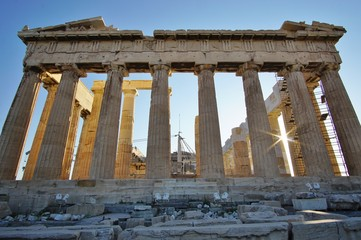 The Ancient Acropolis in Athens, Greece