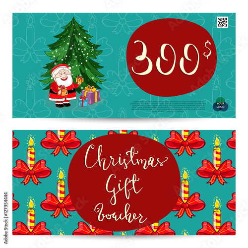 Christmas gift voucher template Gift coupon with Xmas attributes – Free Christmas Voucher Template