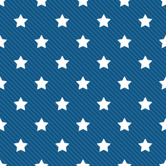 Seamless stars with diagonal lines pattern