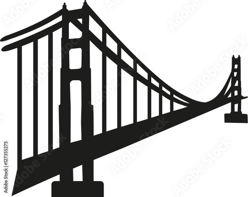 """""""Silhouette of golden gate bridge"""" Stock image and royalty ..."""