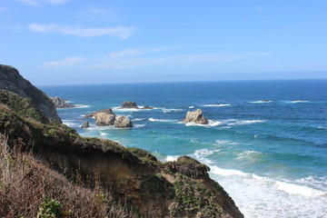 Pacific Ocean coastline, California