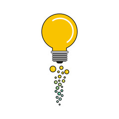 Light bulb and bubbles icon. Big idea creativity solution and imagination theme. Isolated design. Vector illustration