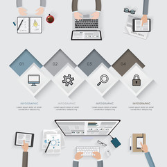 Business infographic template set. Vector illustration.