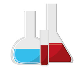 Laboratory flask icon. School education learning and knowledge theme. Isolated design. Vector illustration