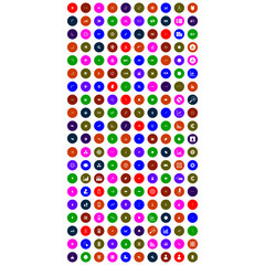 collection of colorful mobile icons