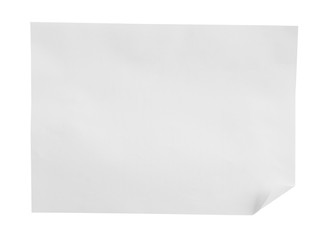 papers on white background