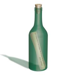 message in  a bottle