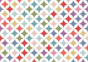 Colorful geometric circle background   abstract retro patterns wallpaper   texture design