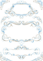 Calligraphy frame and design element collection