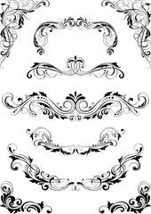 Set floral dividers leaf design