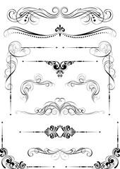 Set of black dividers design
