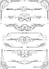 Set of calligraphy dividers design