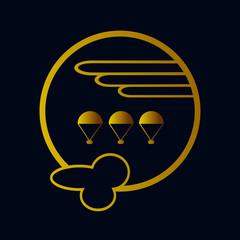 эмблема парашютного спорта, векторная иллюстрация