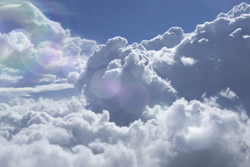 A beautiful view of the clouds