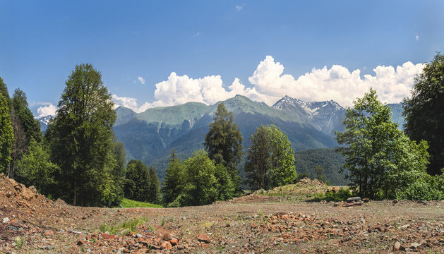 The mountains and the trip to Elbrus with friends.