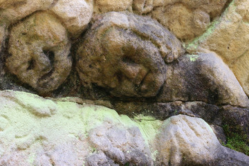 Detail of heads of cherubs