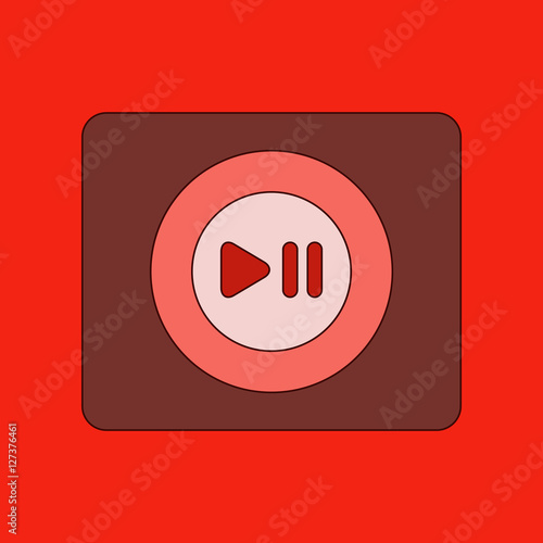 """flat icon on background music player"" fichier vectoriel ..."