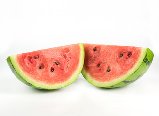 Wall Mural - watermelon on white background