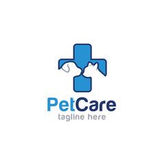 Pet care logo design vector