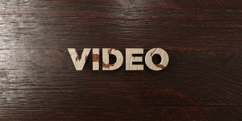 Video - grungy wooden headline on Maple  - 3D rendered royalty free stock image. This image can be used for an online website banner ad or a print postcard.