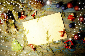 Christmas blank letter to write message