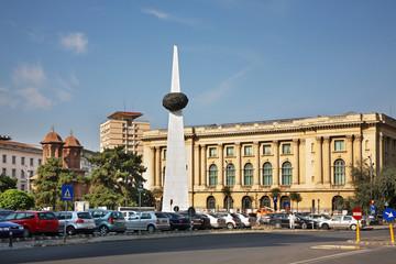 Revolution square in Bucharest. Romania