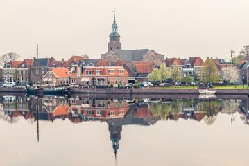 Overlooking the historic port of blokzijl,