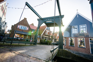 Details and fragments in the Village of Volendam. Netherlands