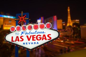 Wall Murals Las Vegas LAS VEGAS - MAY 12 : Las Vegas strip road at night View of the s