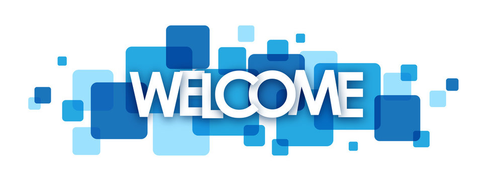 """""""WELCOME"""" overlapping letters vector banner"""
