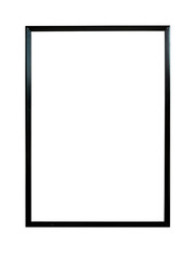 blank white picture frame isolated on white