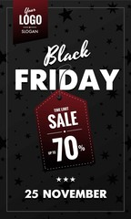 Black Friday sale, special offer. Banner, poster, sticker. Web, print