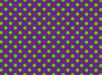 Purple and Green Polka Dot Background