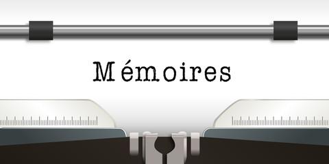 Mémoires - écrivain - Machine à écrire