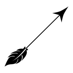 arrow archery icon image vector illustration design