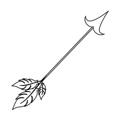arrow archery icon image vector illustration design
