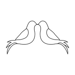 two doves icon image vector illustration design