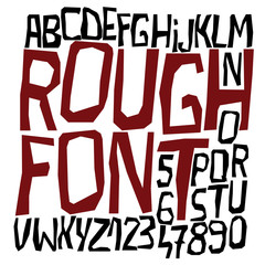Rough font