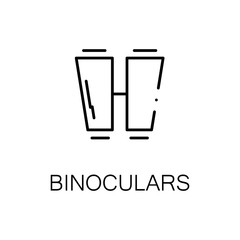 Binoculars flat icon or logo for web design.