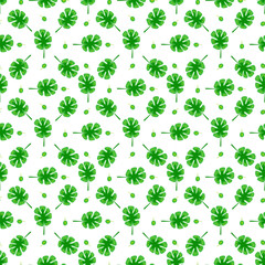 Leaves seamless pattern vector set.