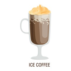 Coffee cups different cafe drinks ice