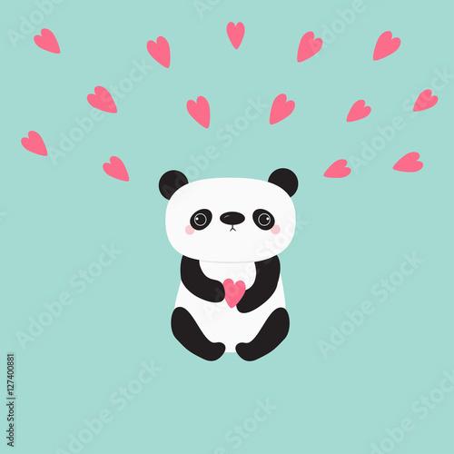 Panda bear animal collective hat