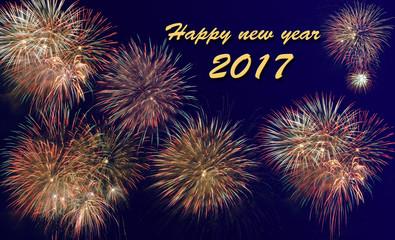 Feuerwerk an Neujahr 2017