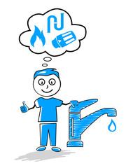 Cartoon - Sanitär - Heizung - 1