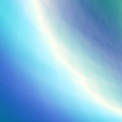 Abstract rainbow sky blue background