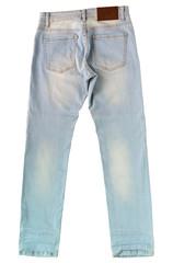 light blue jeans on floor background