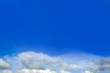Blue sky with white clouds in a sunny day