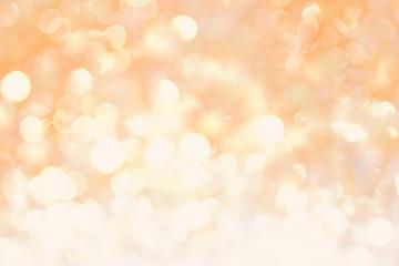Orange yellow soft bokeh abstract light background