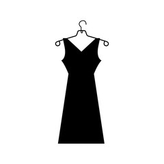 dress and hanger icon image vector illustration design