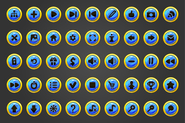 Big set of vector web button